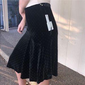 NWT Marc Jacobs silk velvet midi skirt